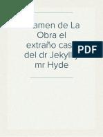 Examen de La Obra Jekyll