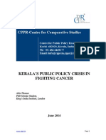 Kerala's Public Policy Crisis in Fighting Cancer