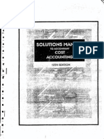 Solution Cost Carter Usry 13th Edition