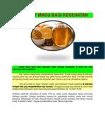 Manfaat Madu Untuk Kesehatan-materi Presentasi-yuli Setyanti