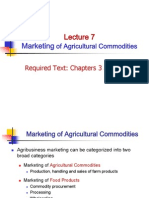 Marketing of Agricultural Commodities
