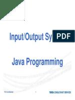 Java Input Out Put