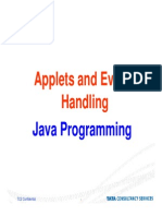 Applets and Event Handling in Java