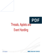 Threads applet and Event Handling in java