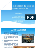 Procesos de Extracción Del Cobre en La Minera