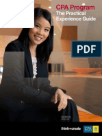 Practical Experience Guide Accounts