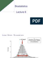 Biostatistics - Normal Distribution