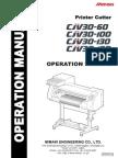 Mimaki CJV30-60 Operations manual