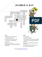 st patrick day crossword