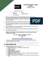 Aust Guide Legal Citation