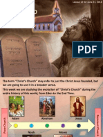 2nd Quarter 2014 Lesson 12 Christ's Church and the Law Powerpoint Presentation