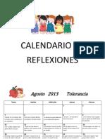 Calendario de Reflexiones Año Escolar 2013-2014