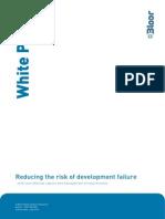 Reducing Risk of Development Failure