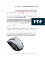 Microsoft Wireless Notebook Laser Mouse 7000 MacWin USB Review