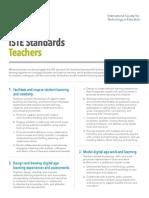 iste standards - teacher