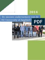 E Publicatie Nieuwste ondernemers van de HZ University of Applied Science.
