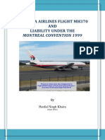 MALAYSIA AIRLINES FLIGHT MH370 AND LIABILITY UNDER THE MONTREAL CONVENTION 1999
