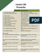 Lesson 28 Kiswahili