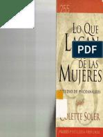 Colette Soler - Lo Que Lacan Dijo de Las Mujeres