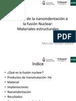 Aplicación de La Nanoindentación a La Fusión Nuclear