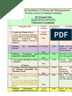 Series of Training Workshops - Dec- Feb 2010