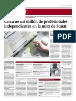 Cerca de Un Millón de Independientes en La Mira de La Sunat_Gestión 20-06-2014