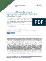 Psychosocial Factors Involved in Absenteeism - A Qualitative Analysis in a Brazilian Context (Paula, Oliveira, Vilas Boas & Guimarães, 2014)