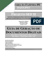 SEF II - Guia de Geração de Documentos Digitais