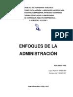 Enfoques de La Administración.