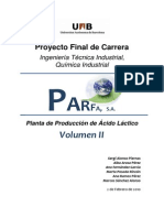 Planta de Producción de Ácido Láctico Vol II