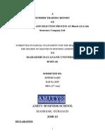 Ritesh Saini (2008-10)Summer Training Report