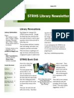 STRHS Library Spring 2014 Newsletter