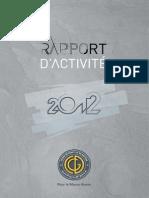 Rapport d'Activité CDG 2012