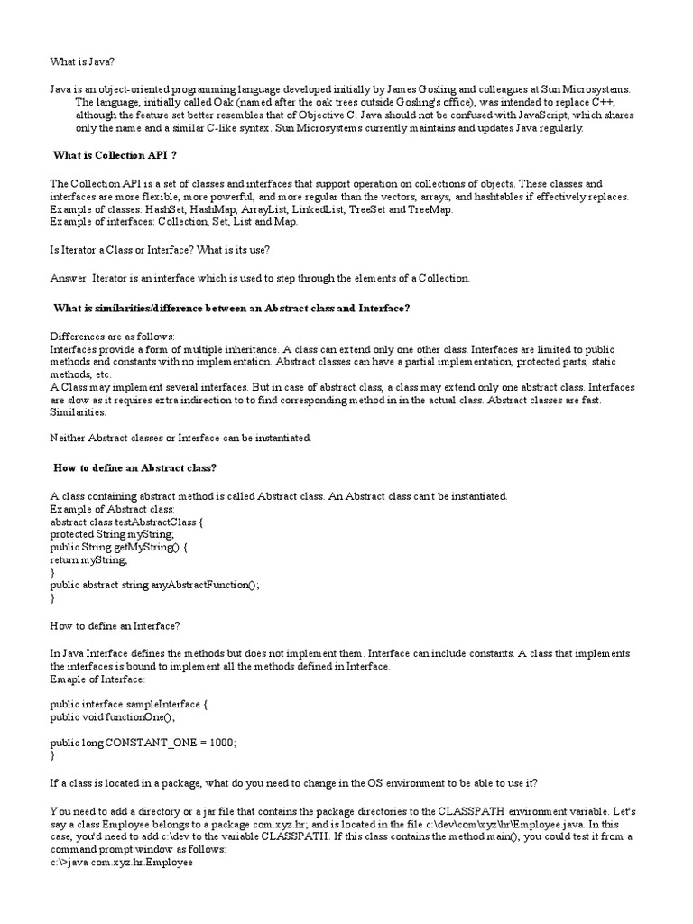 Java | Class (Computer Programming) | Method (Computer