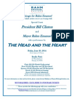 Invite to Chicago for Rahm Emanuel event