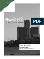 Detroit NY Program