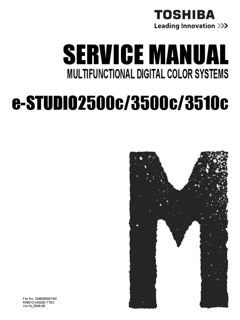 Toshiba E Studio 2500c 3500c 3510c Service & Parts