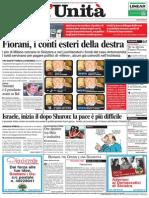 L'Unità, prima pagina 2006