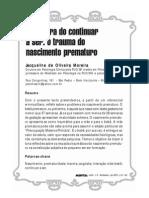 Jacqueline Moreira - o Trauma Do Nascimento Prematuro