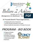 Believe 2 Achieve Program-Bid Book