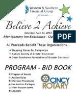 Believe 2 Achieve Program-Bid Book