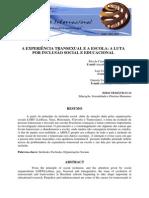 Microsoft Word - A Experiencia Transexual e a Escola a Luta Por Inclusao Social e Educacional