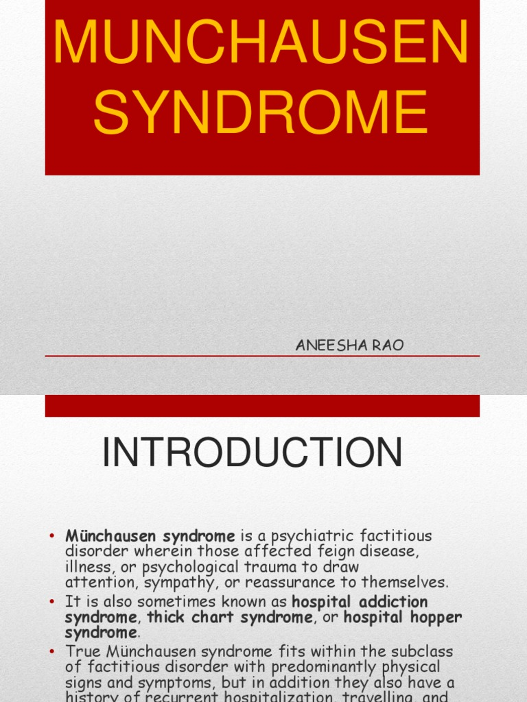 munchausen syndrome examples