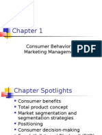 Consumer Behavior & Marketing Management