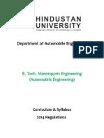 B.tech.Motorsports(Automobile Engg)