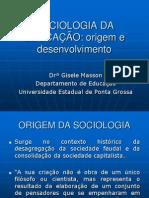 Origem Sociologia Da Ed.