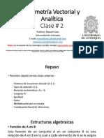 Clase 02 Módulo 2 Gemetria Vectorial y Analítica