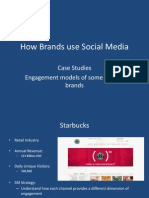 Social Media used by some leading brands