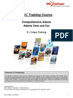 MSC Training Course - Comprehensive Adams Training June 2014