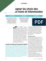Accompagner Les Choix Des Personnes Trans Et Intersexuées - Gazette santé-social - Juin 2014 - Par Emilie Lay